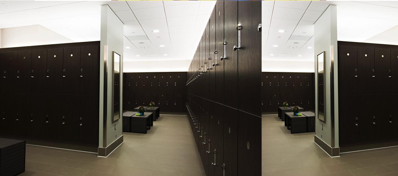 Luxurious Locker Rooms + Amenities